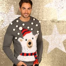 3D POLAR BEAR JUMPER WITH POM POMS